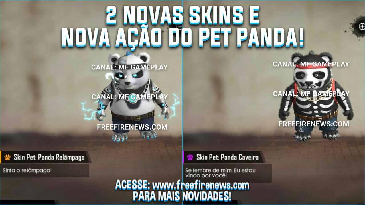VAZOU: 2 NOVAS SKINS E NOVA AÇÃO DO PET PANDA