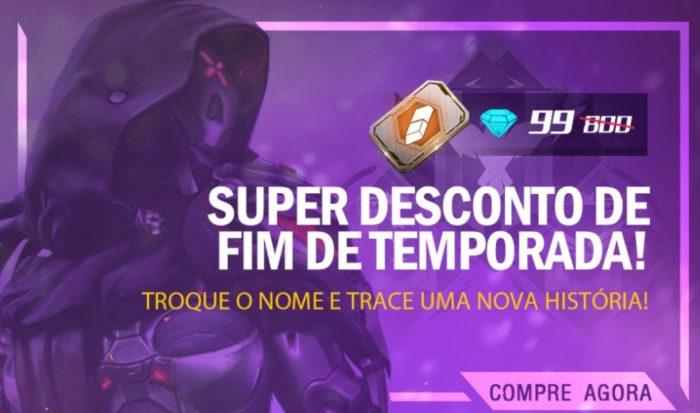 TROCA DE NOME POR 99DIAMANTES