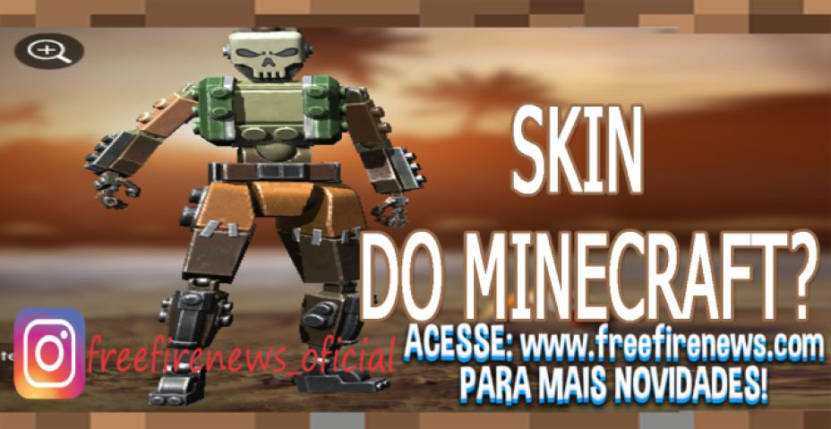 VAZAMENTO: SKIN DO MINECRAFT NO FREE FIRE