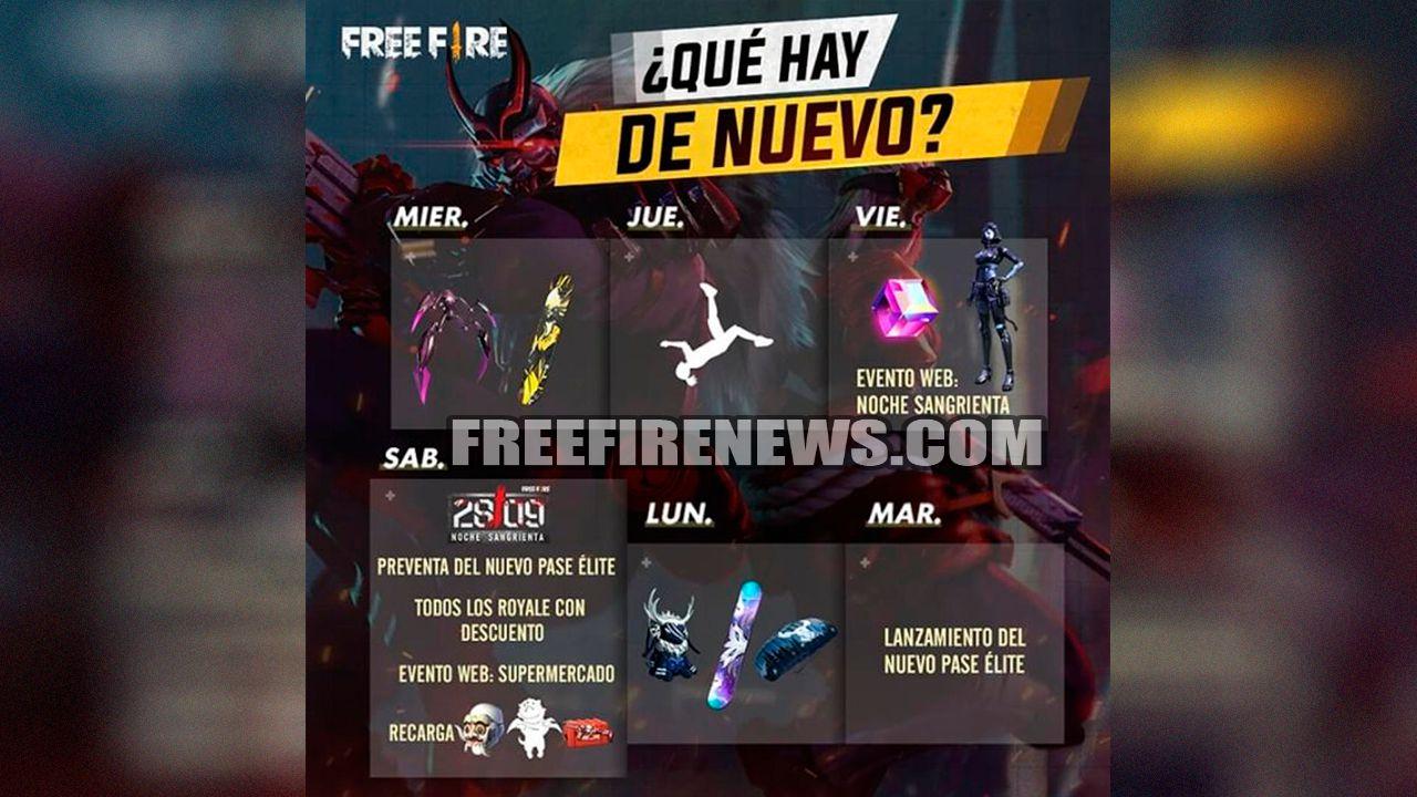 Todos os Eventos da Semana no Free Fire - FREEFIRENEWS