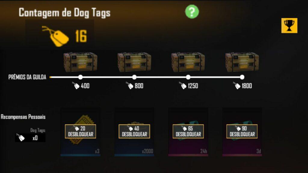 bug dog tags free fire