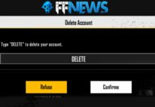 deletar e/ou excluir conta free fire