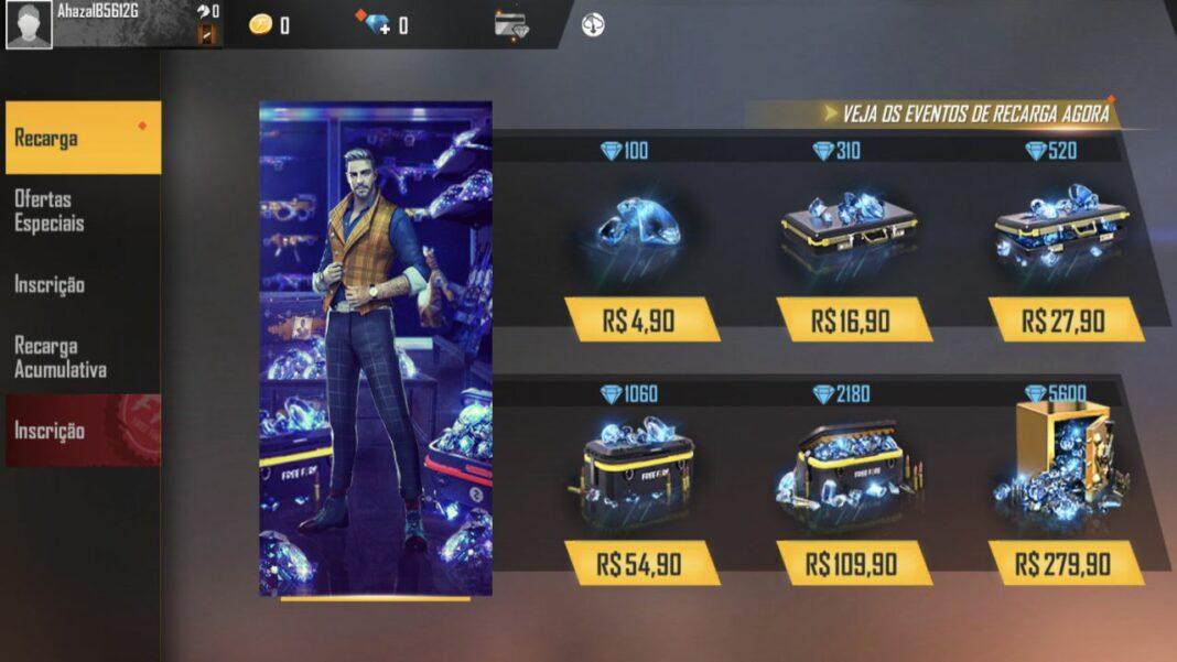 preço diamantes ff iphone