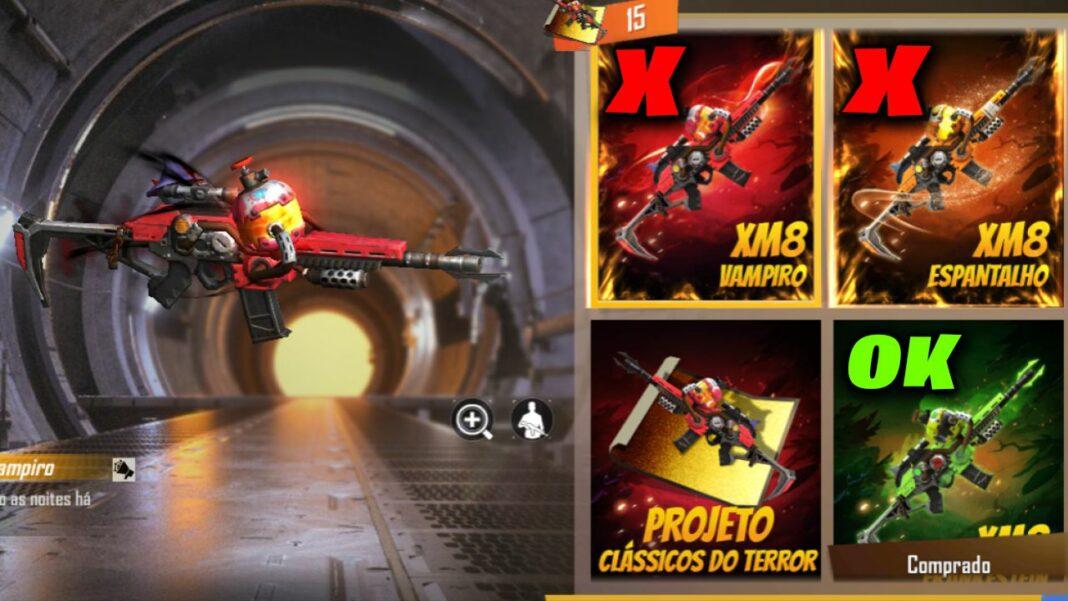 incubadora xm8 free fire