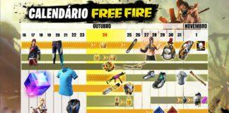 calendário free fire