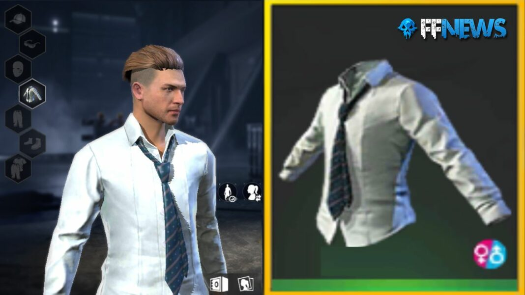 camisa blanca con corbata