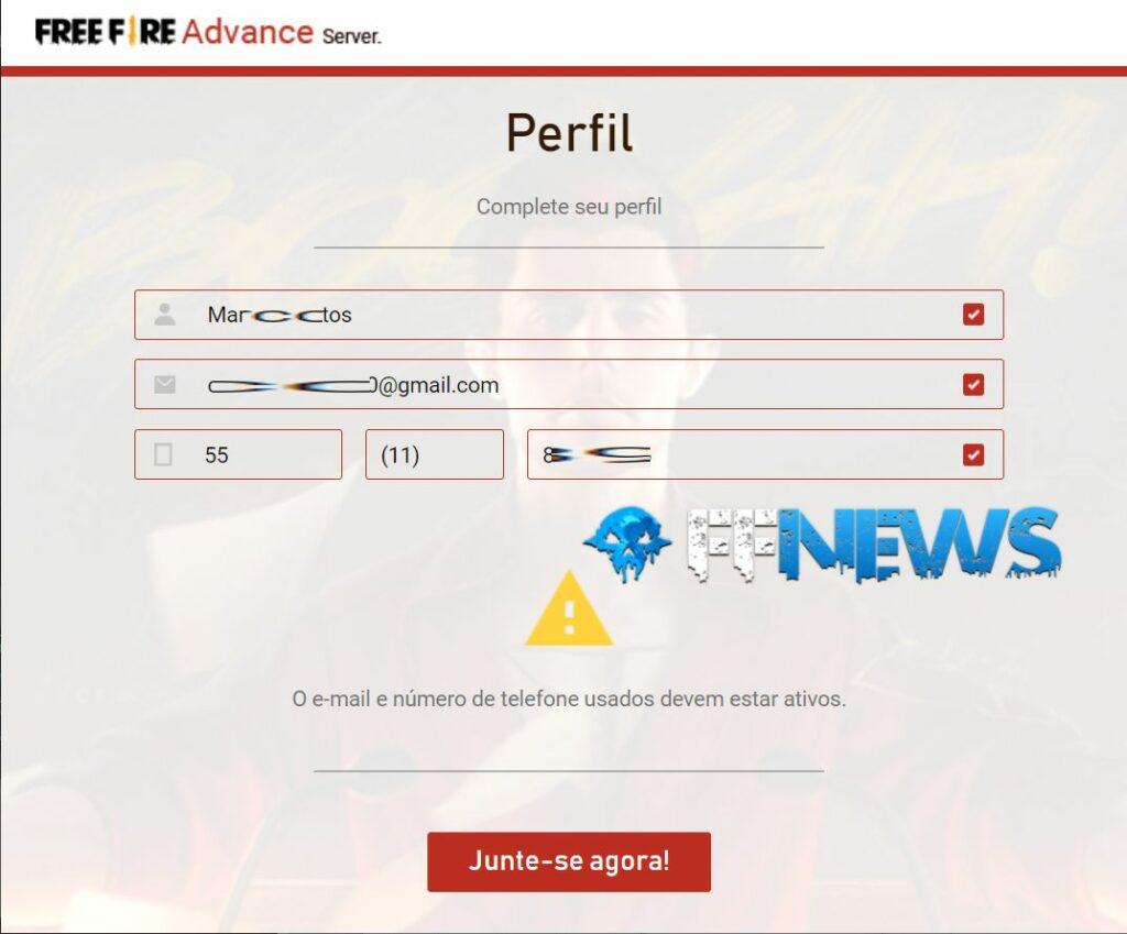 inscrição servidor avançado