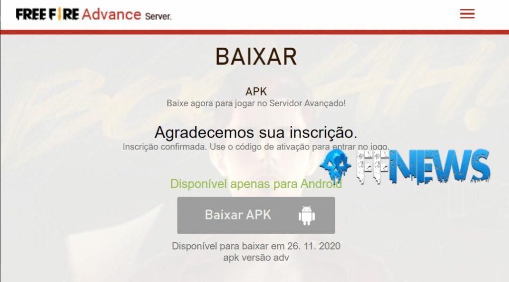 download apk servidor avançado