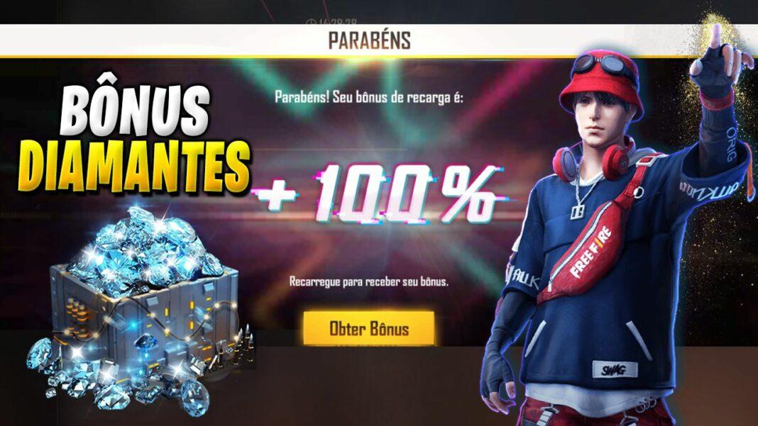 bônus 100% diamantes