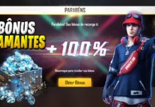bônus 100% diamantes